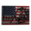 iCanvas Flags New York Wall Street Charging Bull Graphic Art on Canvas