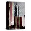iCanvas Flags New York Freedom Tower Graphic Art on Canvas