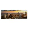 iCanvas Panoramic 'New York Skyline Cityscape (Sunset)' Photographic Print on Canvas