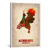 iCanvas 'Netherlands Watercolor Map' by Naxart Graphic Art on Canvas
