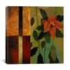 "iCanvas ""Retro Red Flower"" Canvas Wall Art by Pablo Esteban"
