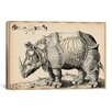 iCanvas Animal Rhinoceros by Enea Vico Graphic Art on Canvas