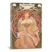 iCanvas Reverie by Alphonse Mucha Graphic Art on Canvas