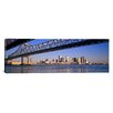 iCanvas Panoramic Crescent City Connection Bridge and the Mississippi River, New Orleans, Louisiana Photographic Print on Canvas