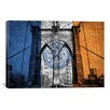 iCanvas Flags New York Brooklyn Bridge Graphic Art on Canvas