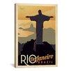 iCanvas Rio De Janeiro, Brazil Vintage Advertisement on Canvas