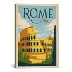 iCanvas 'Rome, Italy' by Anderson Design Vintage Advertisement on Canvas