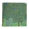 "iCanvas ""Rosebushes Under the Trees"" Canvas Wall Art by Gustav Klimt"
