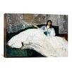 iCanvas 'Portrait of Jeanne Duval' by Edouard Manet Painting Print on Canvas