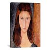iCanvas 'Portrait of Jeanne Hebuterne' by Amedeo Modigliani Painting Print on Canvas