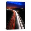iCanvas Road Lights Photographic Print on Canvas