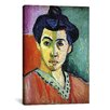 iCanvas 'Portrait of Madame Matisse (Green Stripe)' by Henri Matisse Painting Print on Canvas