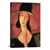 iCanvas 'Portrait of a Woman (Jeanne Hébuterne)' by Amedeo Modigliani Painting Print on Canvas