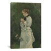 iCanvas 'Portrait of a Lady 1875' by Winslow Homer Painting Print on Canvas