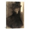 iCanvas 'Portrait of a Lady with Cape and Hat' by Gustav Klimt Painting Print on Canvas