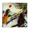 """iCanvas """"Romantic Landscape"""" by Wassily Kandinsky Painting Print on Canvas"""