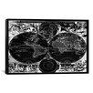 iCanvas Antique Maps Nova Totius Terrarum Orbis Tabula (1684) by J Bormeester Framed Graphic Art on Canvas