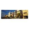 iCanvas Panoramic Art Deco Hotel, Ocean Drive, Miami Beach, Florida Photographic Print on Canvas