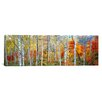 iCanvas Panoramic Fall Trees, Shinhodaka, Gifu, Japan Photographic Print on Canvas