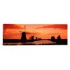 iCanvas Panoramic 'Windmills Holland Netherlands' Photographic Print on Canvas