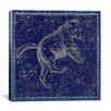 iCanvas Celestial Atlas - Plate 6 (Ursa Major) by Alexander Jamieson Graphic Art on Canvas in Blue