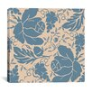 iCanvas Grapes and Buds by Mindy Sommers Graphic Art on Canvas in Blue and Beige