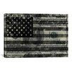 iCanvas Flag One Hundred Dollar Bill, USA Graphic Art on Canvas in Gray and Black