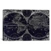 iCanvas Antique Map of the World in Two Hemispheres (1730) by Stoopendaal in Negative Graphic Art on Canvas in Negative