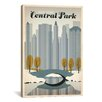 iCanvas 'Winter in Central Part - New York' by Anderson Design Group Vintage Advertisement on Canvas