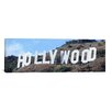 iCanvas Panoramic Hollywood Skyline Cityscape Photographic Print on Canvas in Blue and Brown
