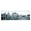 iCanvas Panoramic Ruins of an Old Building, Rome, Italy Photographic Print on Canvas in Black and White