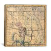 iCanvas Celestial Atlas - Plate 20 (Sagittarius) by Alexander Jamieson Graphic Art on Canvas in Beige