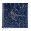 iCanvas Celestial Atlas - Plate 15 (Gemini) by Alexander Jamieson Graphic Art on Canvas in Blue