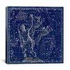 iCanvas Celestial Atlas - Plate 7 (Canes Venatici) by Alexander Jamieson Graphic Art on Canvas in Blue