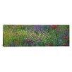 iCanvas Panoramic Wildflowers El Escorial Spain Photographic Print on Canvas