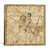 iCanvas Celestial Atlas - Plate 21 (Capricornus, Aquarius) by Alexander Jamieson Graphic Art on Canvas in Beige