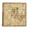 iCanvas Maps and Charts Celestial Atlas - Plate 21 (Capricornus, Aquarius) by Alexander Jamieson Graphic Art on Canvas in Beige