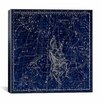 iCanvas Celestial Atlas - Plate 4 (Auriga) by Alexander Jamieson Graphic Art on Canvas in Blue