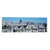 iCanvas San Francisco Panoramic Skyline Cityscape Photographic Print on Canvas in Blue