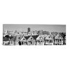 iCanvas San Francisco Panoramic Skyline Cityscape Photographic Print on Canvas in Black and White