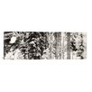 iCanvas Panoramic Snow Covered Evergreen Trees at Stevens Pass, Washington State Photographic Print on Canvas in Black and White