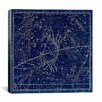 iCanvas Celestial Atlas - Plate 16 (Cancer) by Alexander Jamieson Graphic Art on Canvas in Blue