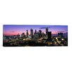 iCanvas Panoramic Skyscrapers in a City, Atlanta, Georgia Photographic Print on Canvas in Black and Purple