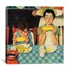iCanvas 'Who's Having More Fun (Kids Eating Corn)' by Norman Rockwell Painting Print on Canvas