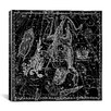 iCanvas Maps and Charts Celestial Atlas - Plate 8 (Corona Borealis) by Alexander Jamieson Graphic Art on Canvas in Black