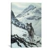 iCanvas Decorative Art Winter Crossing - Wolf by Ron Parker Photographic Print on Canvas