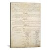 iCanvas Political 'The Constitution Document Signatures' Textual Art on Canvas