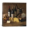 """iCanvas """"Wine and Cheese"""" Canvas Wall Art by Michael Harrison"""