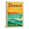 iCanvas 'The Golden Mile - Durban, South Africa' by Anderson Design Group Vintage Advertisement on Canvas