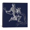 iCanvas Astronomy and Space Water Bearer (Aquarius) Graphic Art on Canvas in Blue